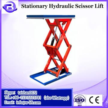 China cheap scissor type hydraulic stationary platform lift