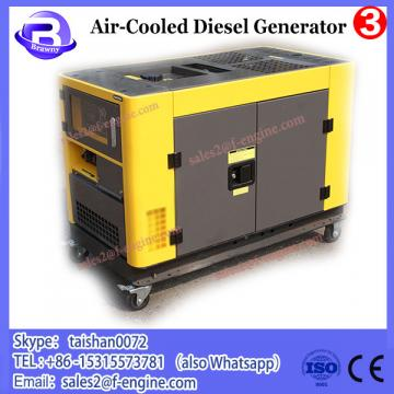 BISON(CHINA) 10kw AC 380V Output ATS Panel Twin Cylinder Air Cooling Engine Diesel Generator 10kw Genset