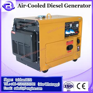 Open frame air cooled electric start diesel generator with diesel fuel